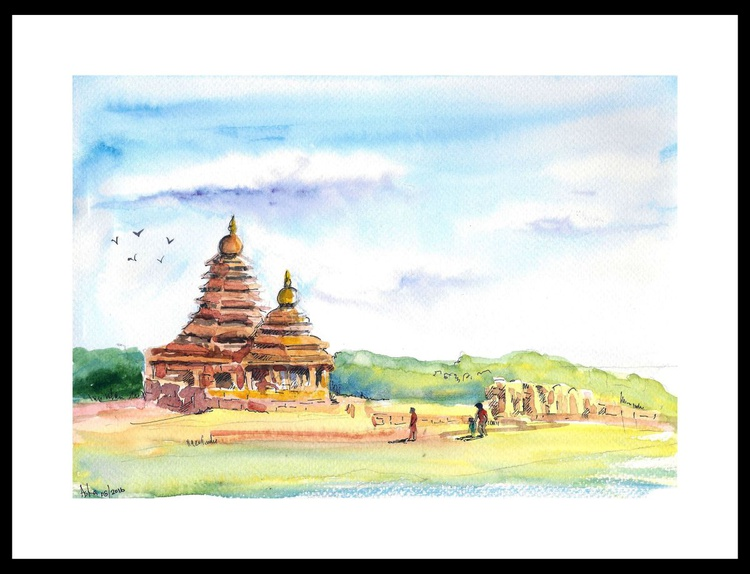 """Shore Temple of India 10""""x 7"""" - Image 0"""