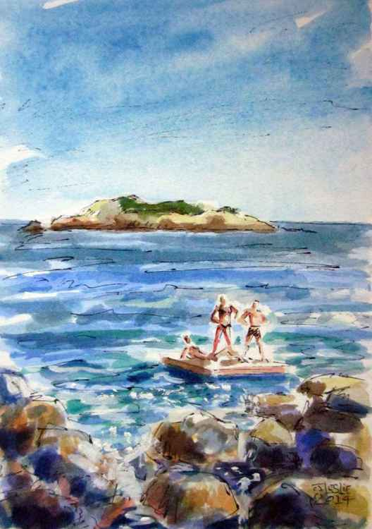 Bathers at Rocky Beach -