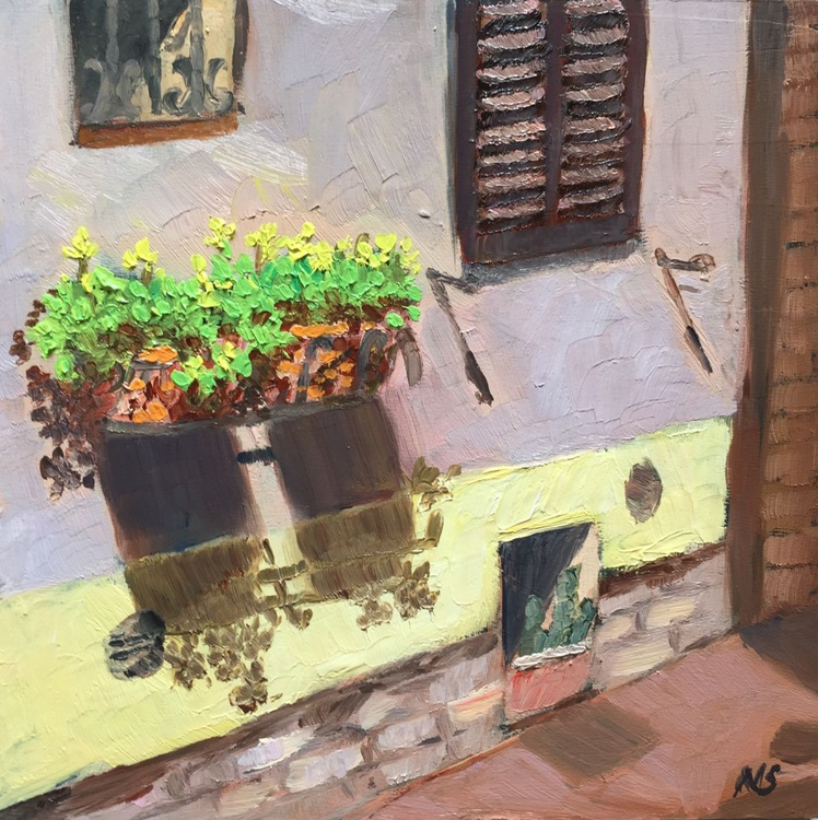 Of windows and alleys! - Italy Cityscape in Oils - Image 0