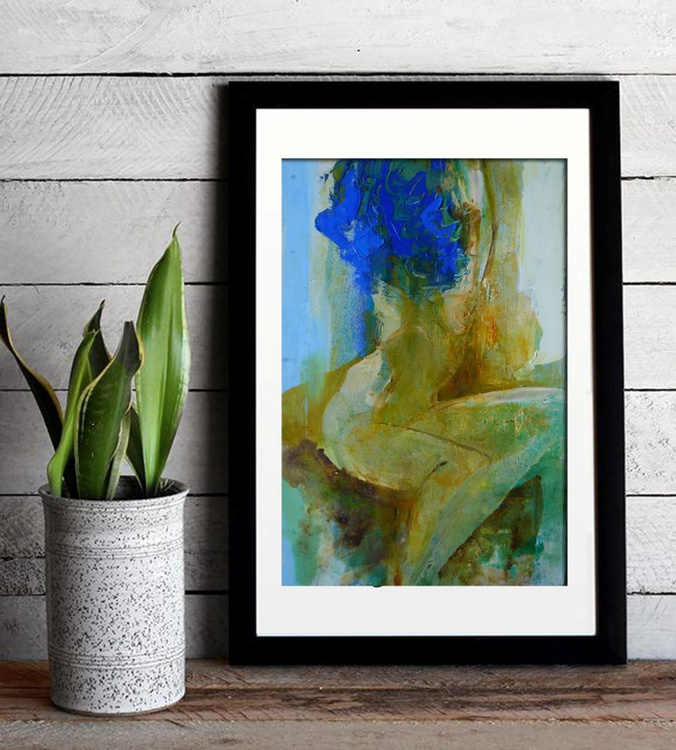 woman with blue hair - Image 0