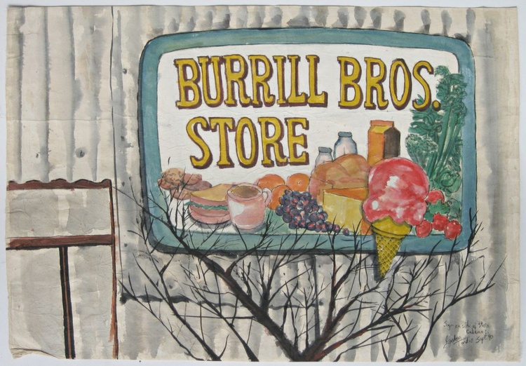 Sign at Side of ( Burrill Bros Store ), Galiano Island - Image 0