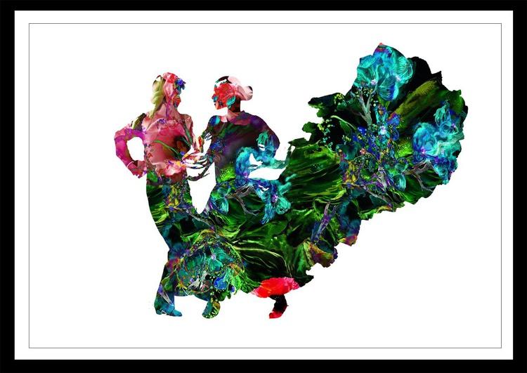 Flamenco dancers / 60 cm x 42 cm - Image 0