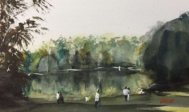 Autumn lake scene - Image 0