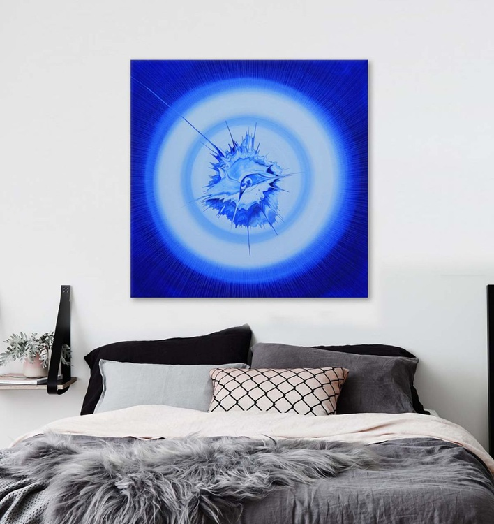 BLUE I -  Acrylic Abstract -  FUNKY CHIC 70 x 70cm - Image 0