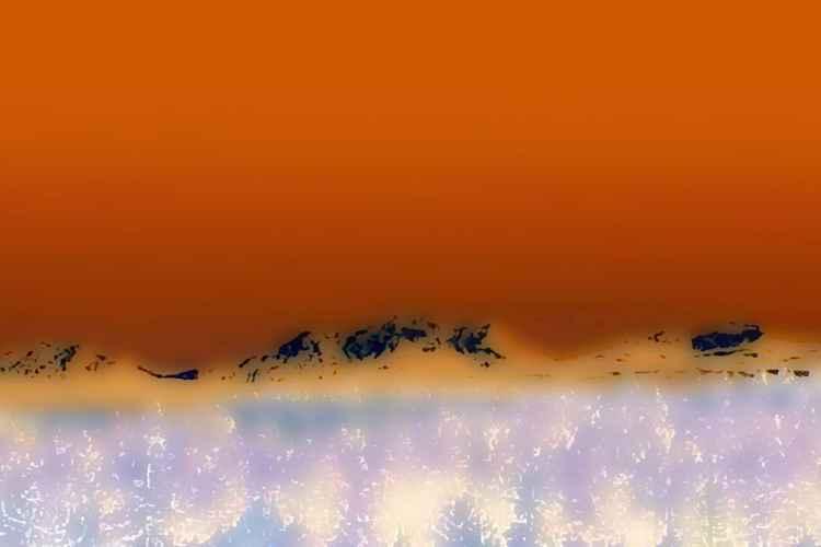 Mountain Range in Autumn -