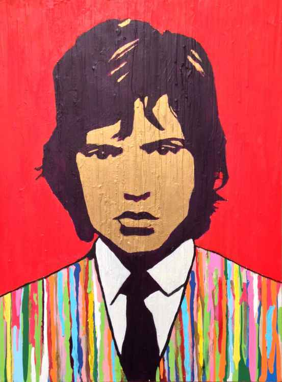Mick Jagger - Pop Art Portrait