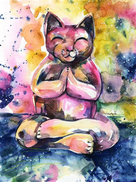 Buddha Cat No. 11 - Image 0
