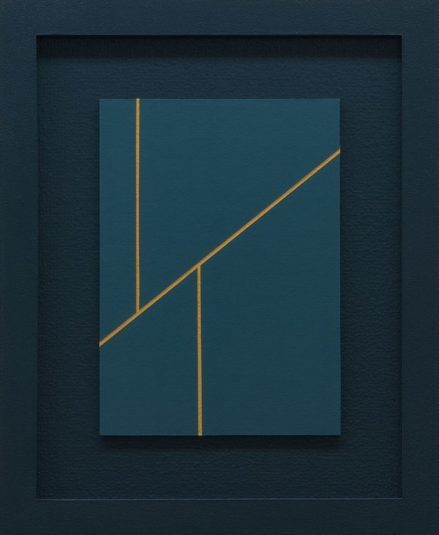 DUPLICITY - FRAMED Modern Minimal Abstract - Image 0