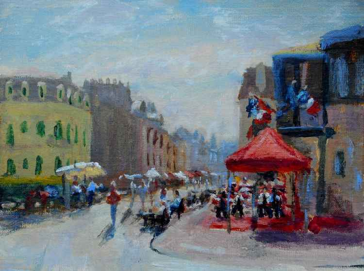 Market street in Cabourg -
