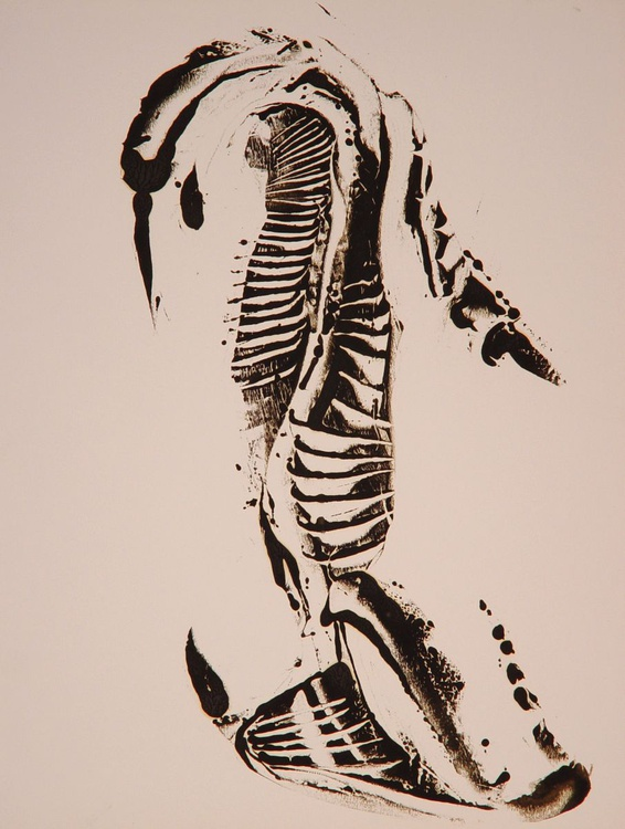 Monotype / monoprint #1, 65x50 cm - Image 0