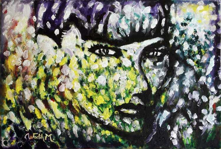 FOLIAR SELF BEAUTY (Foliar Portray) - Illusionary figure-Extracting shapes and forms from Lebanese nature - 60x40.5 cm - Image 0