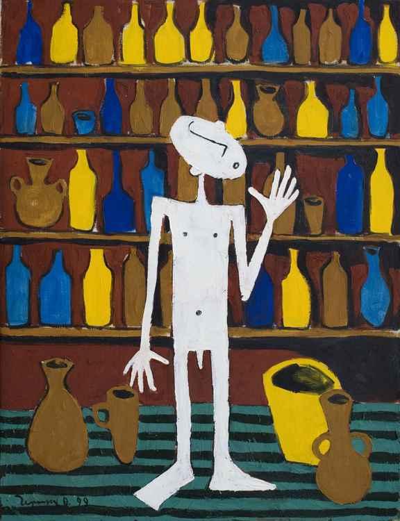 Wine salesman. 1999. Oil, canvas. 65x50 cm -