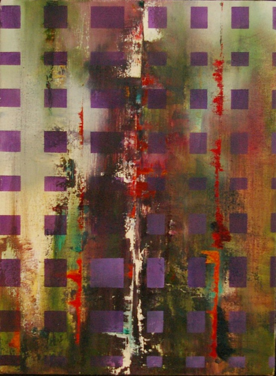 Ab Squares IV- Original One of a Kind Contemporary Abstract Oil Painting - Image 0
