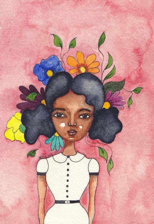 'Transformation' Original Watercolour Painting on Khadi Paper - Image 0
