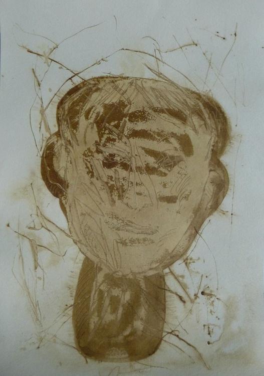 Brown Heads 1, 21x29 cm - Image 0