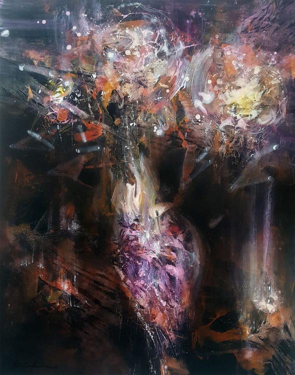 COSMIC STILL LIFE ENERGY FIELDS INCaNDESCENT FIRE amber composition kloska romnian master - Image 0