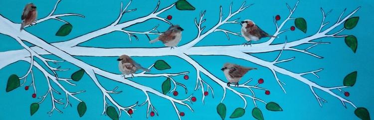 Winter Sparrows - Image 0