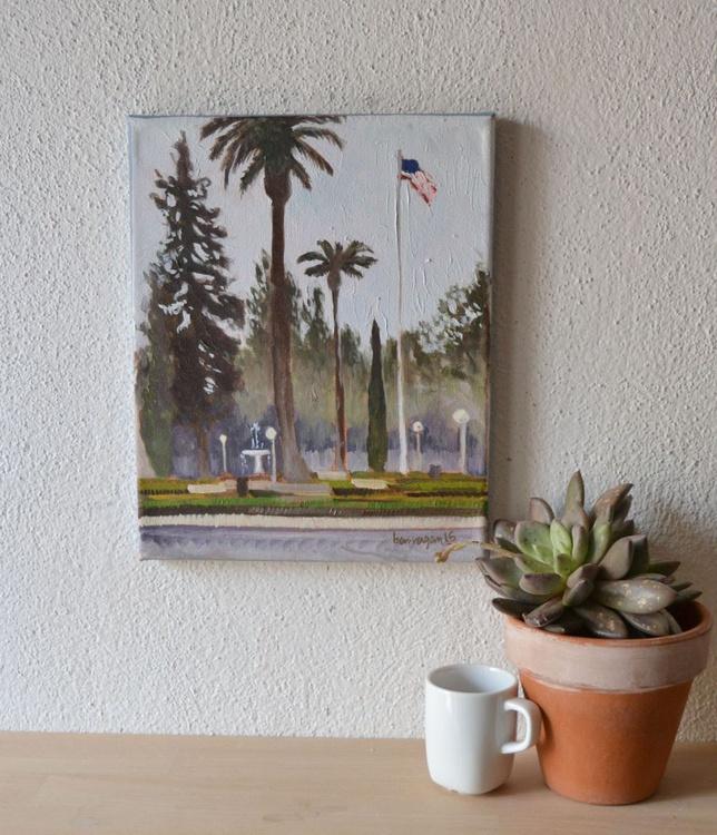 The Orange Circle in Orange California Plein air Oil Painting - Image 0