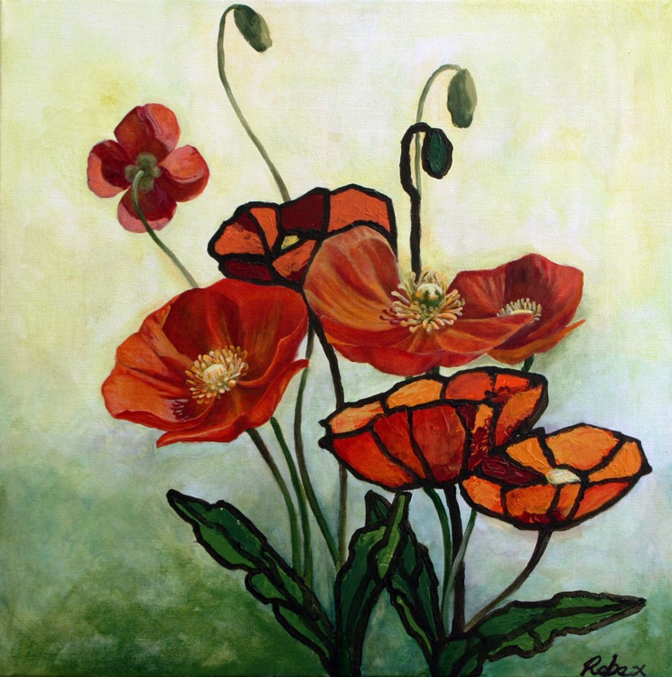 Californian Poppy (51 cm by 51 cm, 20 in by 20 in, ready to hang) - Image 0