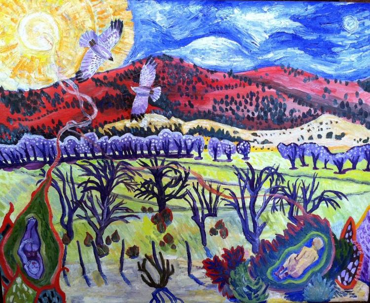 Hawks Over Penasco Valley, New Mexico - Image 0