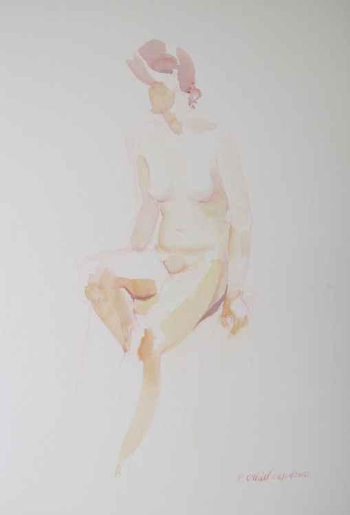 seated female nude -