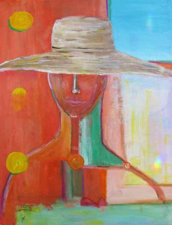 Portrait Avec Le Chapeau