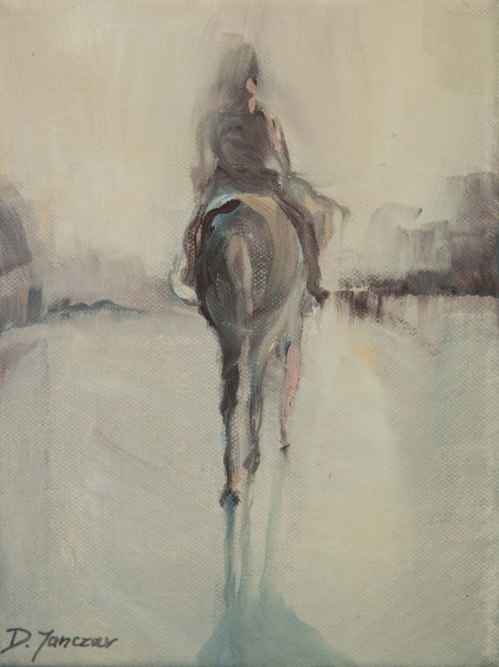 Rider on horse (sketch) - Image 0