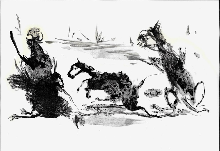 Running Animals, 21x15 cm - Image 0