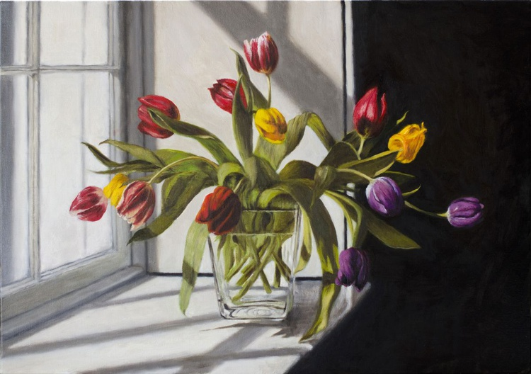 Yellow, Red and Purple Tulips - Image 0
