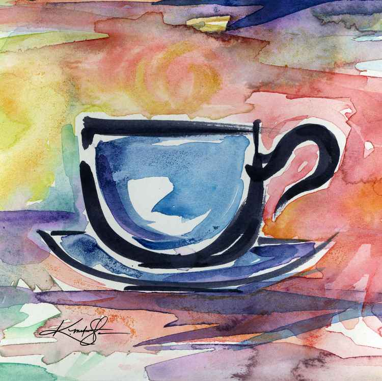 Coffee Dreams No 14 - Original Watercolor -