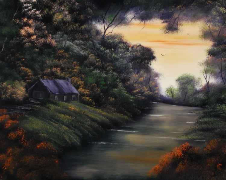 Cabin under the Autumnal Canopy.(Charity Donation) SOLD. - Image 0