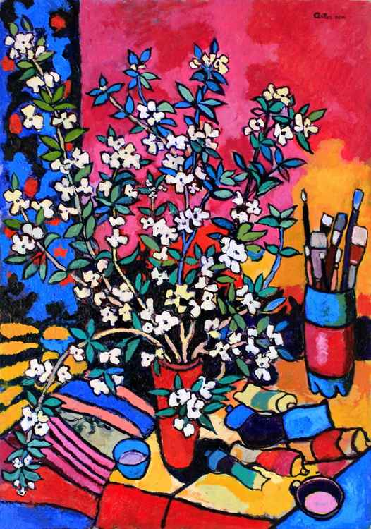 Still Life With Blossomed Leaves