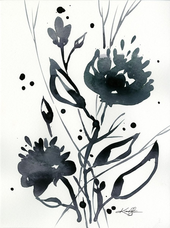 Organic Impressions No. 117 - Flower Watercolor Painting - Image 0