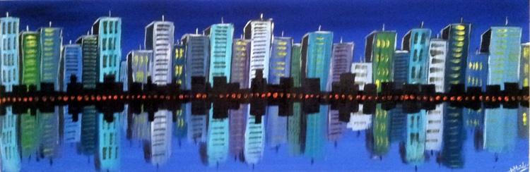 Blue Cityscape - Image 0