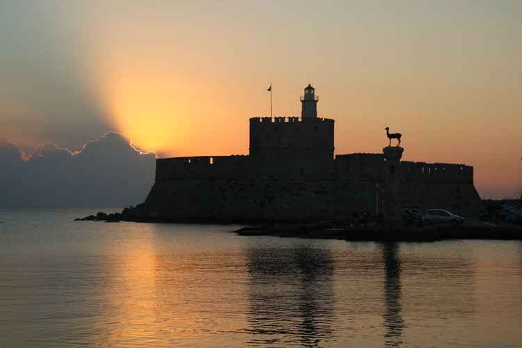 Sunrise in Rhodes