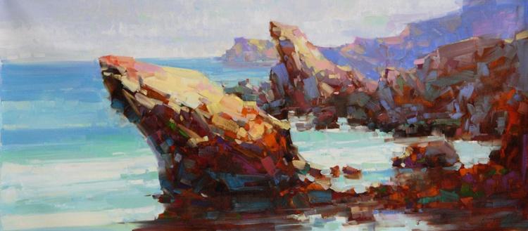 Ocean Cliffs Original oil Painting Large Size - Image 0