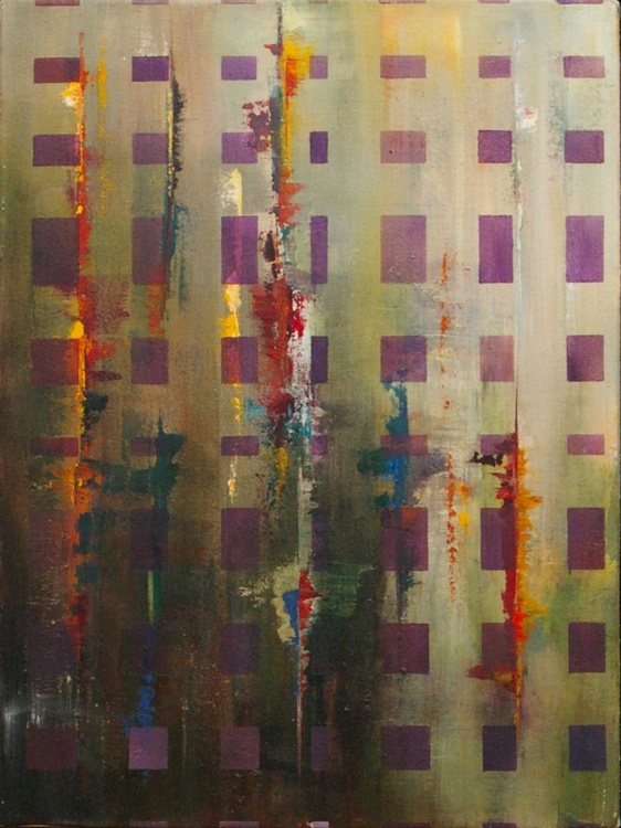 Ab Squares I - Original One of a Kind Contemporary Abstract Oil Painting - Image 0
