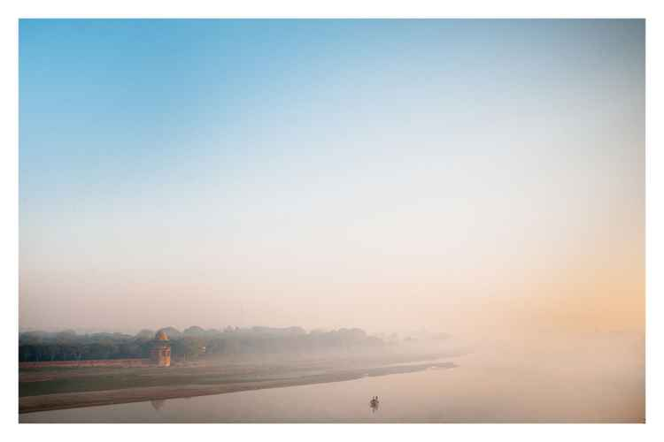 Yamuna River in Agra, India. -