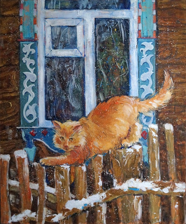 Cat in the village - Image 0