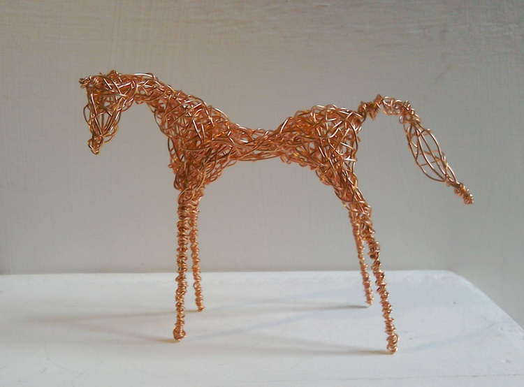 Copper Wirework Foal - Image 0