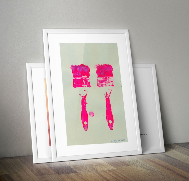 "2 Rose Brushes 2_1/2"" on a perla - Image 0"
