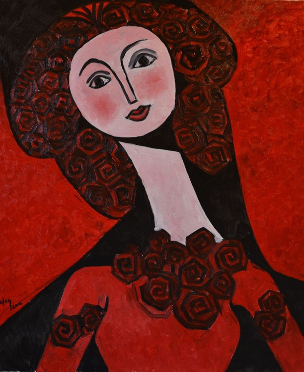 INSPIRED BY PICASSO-HAIR ROSES - Image 0