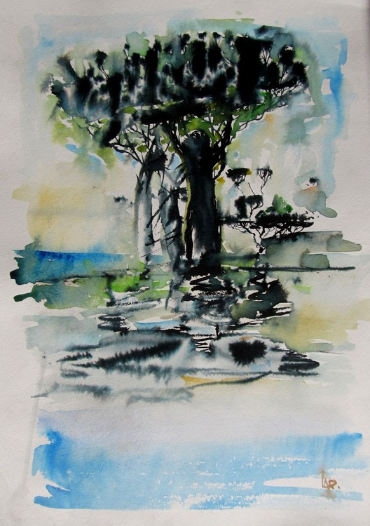 Landscape with a tree - Image 0