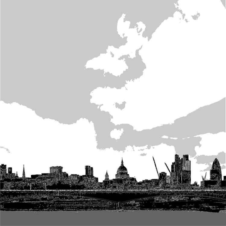 LONDON SKYLINE B&W -