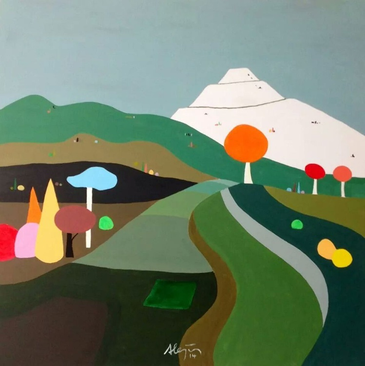 Pop landscape with mountain - Image 0