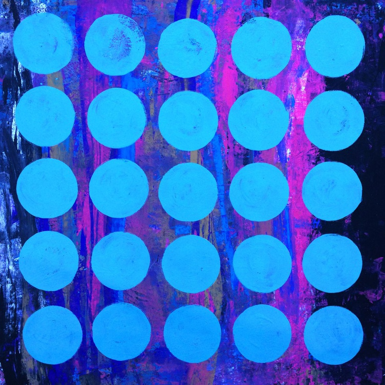 Crisp Aqua Vision - Acrylic on canvas 32x32 - Image 0
