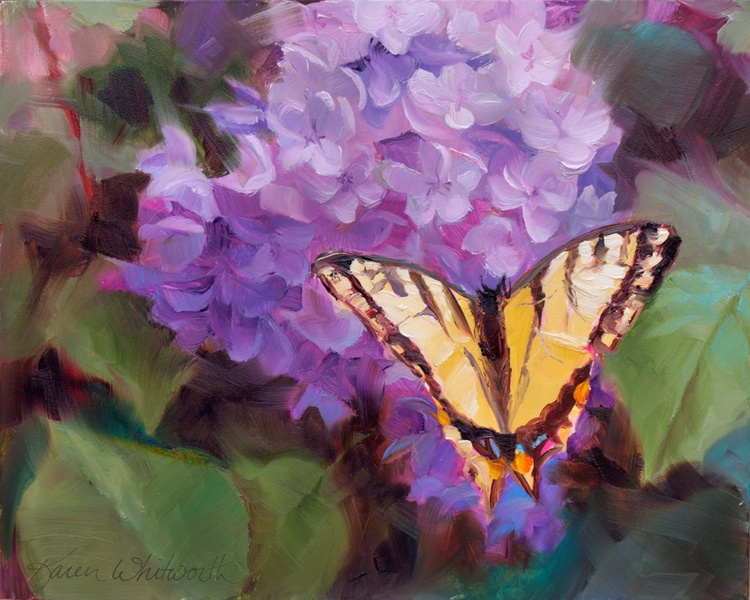 Lilacs and Swallowtail Butterfly - Image 0