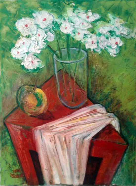 .White Flower 2016year16x12inOriginal Painting Oil on Canvas FOR SALE