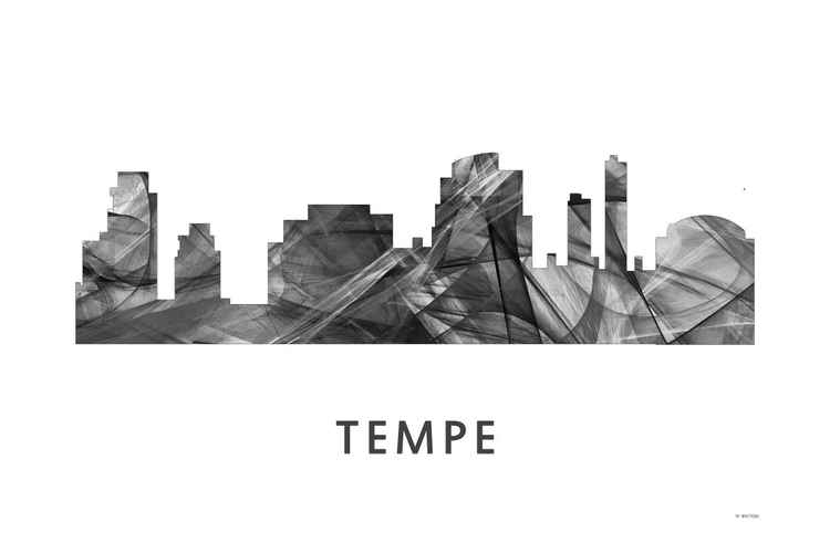 Tempe Arizona Skyline WB BW