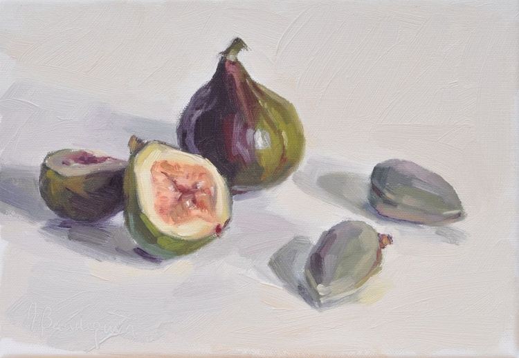 Figs and green almonds - Image 0